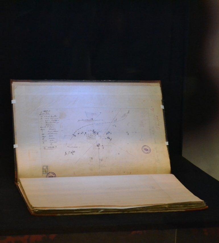 FOTO: Schița pentru apărarea orașului Alba Iulia la 1 Decembrie 1918, exponatul pentru luna decembrie la Muzeul Național al Unirii