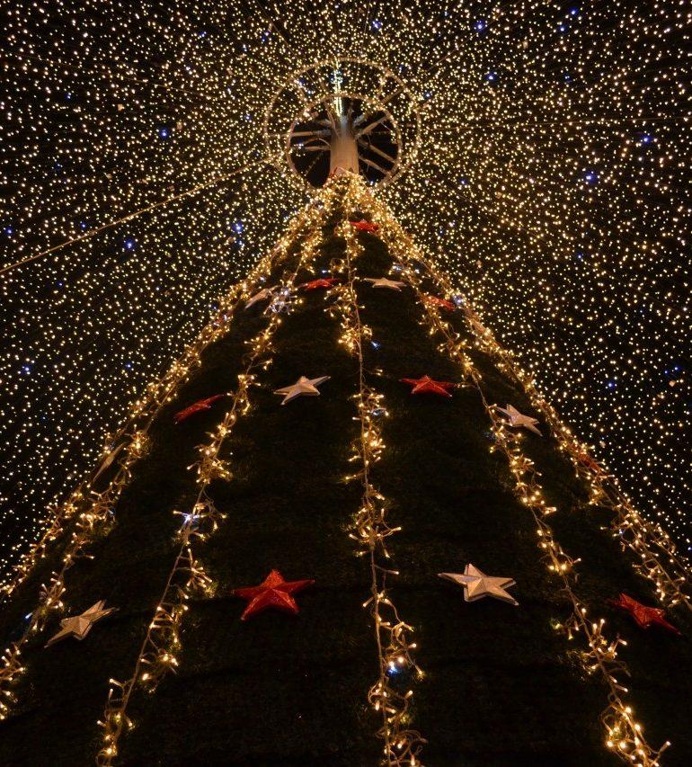 FOTO: Sărbătorile de iarnă sunt tot mai aşteptate la Alba Iulia. Mii de luminiţe înconjoară Cetatea Alba Carolina