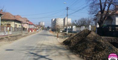 Lucrări de refacere a carosabilului pe Strada Vasile Goldiș
