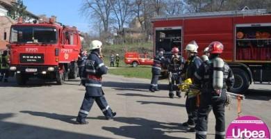 Punct de lucru temporar al pompierilor militari în Cetatea Alba Iulia