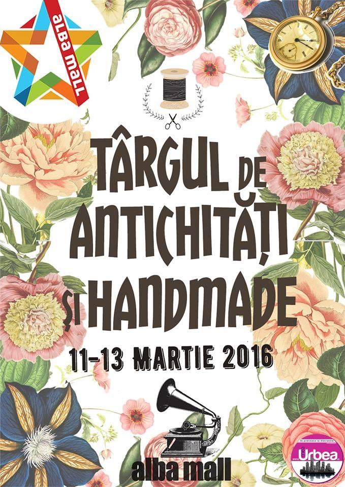 """În acest sfârșit de săptămână, """"Târgul de Handmade și Vintage"""", la Alba Mall"""