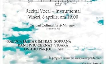 """8 APRILIE: Concert """"Armonii de primăvară"""", cu soprana Raluca Lucia Cîmpean, violonistul Dan Liviu Cernat şi pianistul Ovidiu Pârjol, la Blaj"""