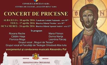"""În aprilie: """"Concert de pricesne"""" la Alba Iulia, Teiuș și Ocna Mureș"""