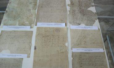 """FOTO: Expoziția """"Politică naţională în Transilvania la 1848-1849. Din documentele timpului"""", vernisată la Sala Unirii din Alba Iulia"""