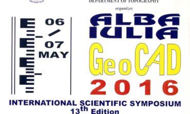 """6-7 MAI: A XIII-a ediția a Simpozionului Internațional GeoCAD, la Universitatea """"1 Decembrie 1918"""" din Alba Iulia"""