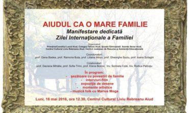 """LUNI: """"Aiudul ca o mare familie"""", la Centrul Cultural """"Liviu Rebreanu"""" din Aiud"""