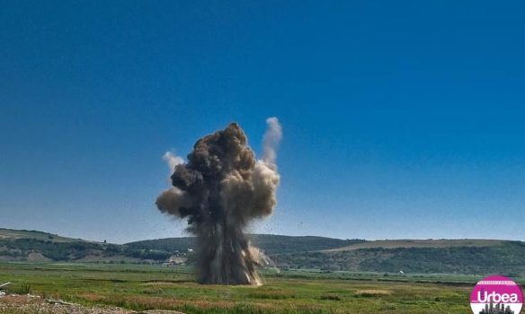 Echipa pirotehnică  din Alba Iulia a intervenit pentru asanare unui teren de muniție rămasă neexplodată