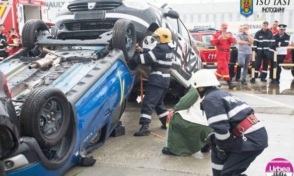 JOI: Exercițiu de intervenție la Zlatna, în cazul unui accident rutier