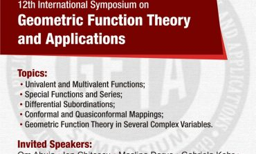 "25 – 28 august: Conferința Internațională ""12th International Symposium on Geometric Function Theory and Applications (GFTA 2016)"", la Universitatea ""1 Decembrie 1918"" din Alba Iulia"