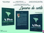 """JOI: Lansarea cărții """"Alba – o istorie în date"""", la Biblioteca """"Avram Iancu"""" din Cîmpeni"""