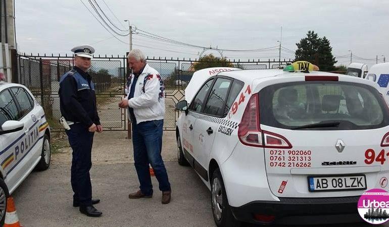 Peste 50 de taximetre verificate de polițiștii din Alba Iulia. Amenzi de aproape 5000 de lei