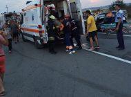 Accident rutier pe şoseaua de centură din Alba Iulia. O persoană rănită după un impact între un autoturism şi o camionetă