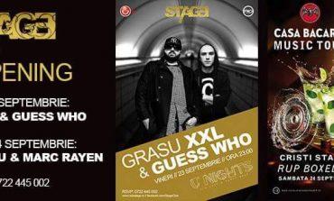 23 septembrie: Grasu XXL și Guess Who deschid noul sezon de petreceri în Club Stage din Alba Iulia