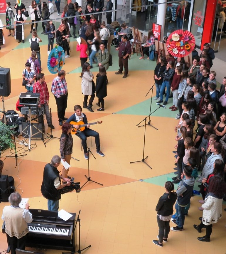 (FOTO) ADR Centru: Sute de elevi și profesori la evenimentele organizate la Alba Iulia, Sibiu și Târgu Mureș, de Ziua Educației