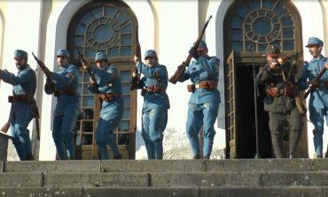 FOTO: Garda Națională de la Alba Iulia, prezentată la 98 de ani de la Unire, la Sala Unirii