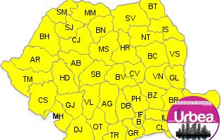 Cod Galben de vânt puternic, ninsori și polei în toată țara, până sâmbătă la ora 2.00