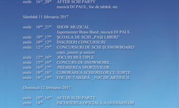 10-12 februarie: Ediția a V-a a Serbărilor Zăpezii, pe Domeniul Schiabil Șureanu. Programul manifestărilor