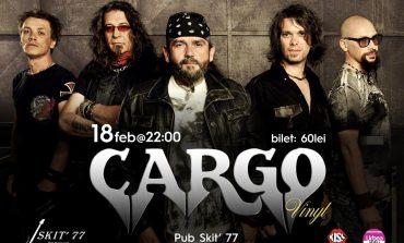 Sâmbătă: Concert 100% live în Pub Skit'77 din Alba Iulia, susţinut de trupa Cargo