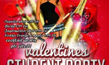 Marţi: Valentines Student Party, în Club Enjoy Life din Alba Iulia. Surprize pentru cei care sărbătoresc iubirea