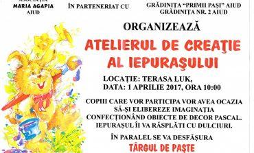 """1 APRILIE: """"Atelierul de creație al iepurașului"""", eveniment caritabil la Aiud cu 100 de copii"""