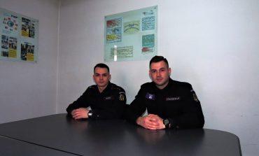 FOTO: Doi elevi ai Şcolii Militare de Subofiţeri din Fălticeni vor executa stagiu de practică la Jandarmeria Alba