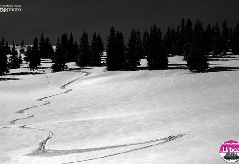 Sfârşit de martie cu zăpadă din plin pe pârtiile de la Şureanu şi Arieşeni