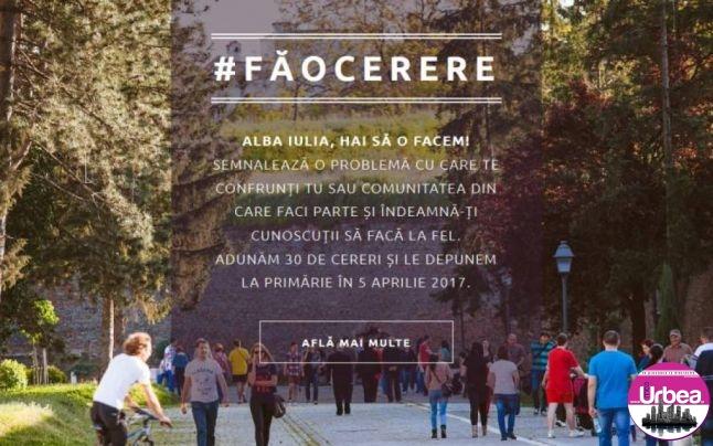 """""""Alba Iulia, fă o cerere"""", campania prin care albaiulienii îşi pot soluţiona problemele cu primăria într-un timp util"""