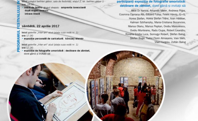 21 – 22 aprilie: A XIII-a ediţie a Festivalului Internaţional de Umor Aiud 2017. Programul manifestărilor
