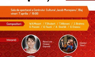 """VINERI: Concert de Paști la Blaj, susţinut de Raluca-Lucia Cîmpean, Dan Liviu Cernat, Ovidiu Pârjol și cvartetul de coarde """"Ethos"""""""