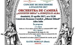 """Duminică: Orchestra de Cameră """"Augustin Bena"""" Alba deschide noua stagiune muzicală 2017. Invitată specială, flautista britanică Katie Morgan"""