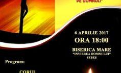 """JOI: Concert de pricesne la Biserica Mare """"Învierea Domnului"""" din Sebeş"""