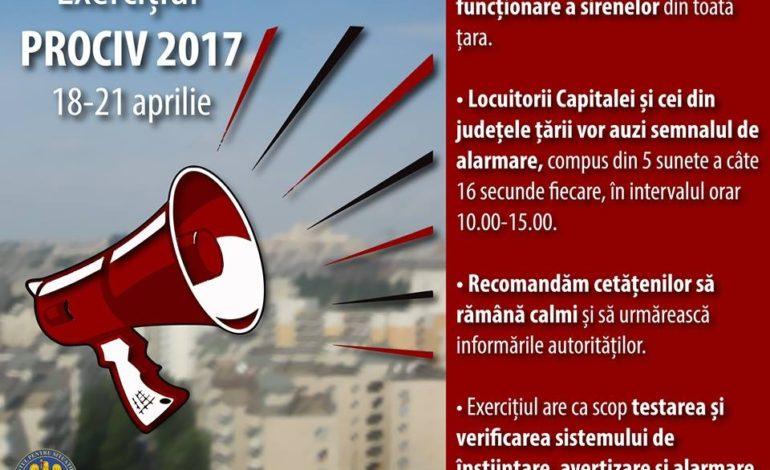 IGSU: Exercițiu de avertizare și alarmare, în perioada 18-21 aprilie