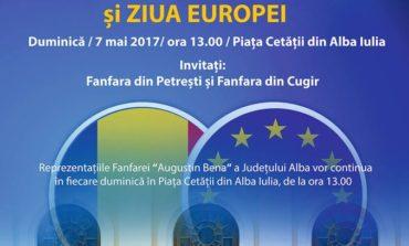 """Duminică: Recital extraordinar al Fanfarei """"Augustin Bena"""" Alba şi al invitaţilor speciali, cu ocazia Zilei Europei"""