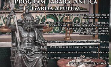 Sâmbătă: A doua tabăra antică a Gărzii Apulum va fi deschisă în curtea Palatului Copiilor din Cetatea Alba Carolina