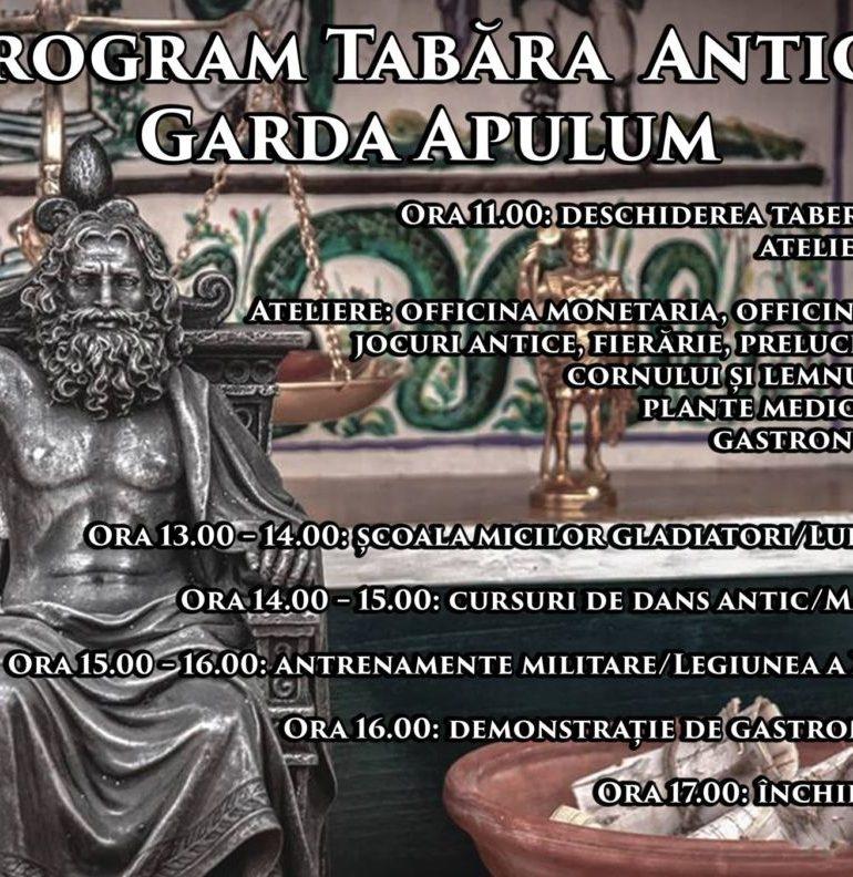 Garda Apulum reia reprezentaţiile de la Poarta IV şi tabăra antică din Cetatea Alba Carolina, din acest weekend