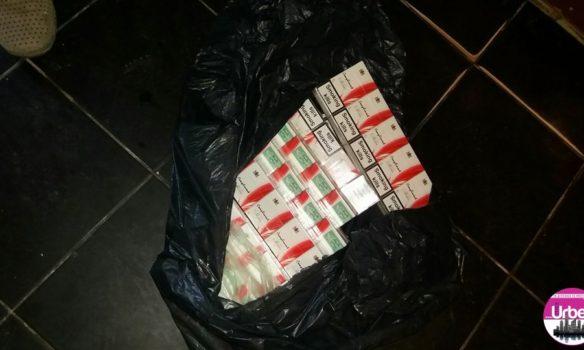 FOTO: Peste 7.500 de ţigarete şi 146 litri de alcool, confiscate de poliţiştii din Albac şi Gârda de Sus