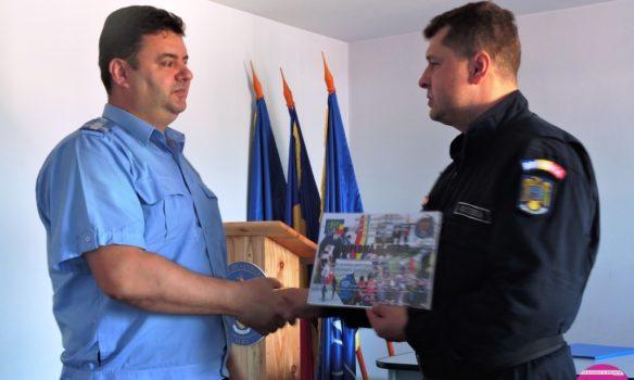 FOTO: Comandantul Detașamentului III Jandarmi Aiud, Gheorghe Grama s-a pensionat