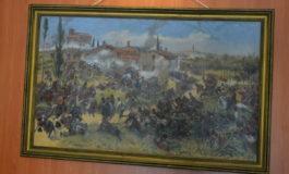 """FOTO-VIDEO: Tabloul """"Bătălia de la Custozza"""", exponatul lunii iunie la Muzeului Naţional al Unirii din Alba Iulia"""