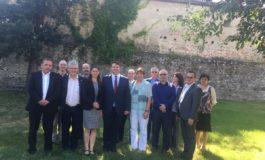 FOTO: Primarul Dorin Nistor a primit, la Sebeş, vizita delegaţiei conduse de Anne Quart, Secretar de Stat, landul Brandenburg