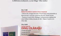 """MARȚI: BiblioVACANȚA, la Biblioteca Județeană """"Lucian Blaga"""" Alba. Dinu Olăraşu, invitatul special"""
