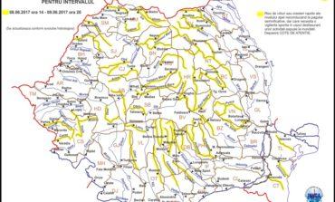 Cod Galben de inundaţii pe mai multe râuri din Alba, până vineri