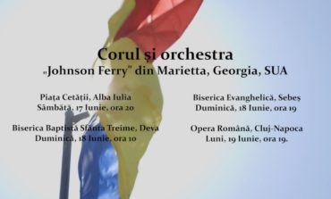 """SÂMBĂTĂ: Corul și orchestra """"Johnson Ferry"""" din Marietta, Georgia, concertează pentru a doua oară la Alba Iulia"""