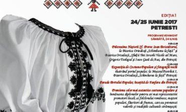 """24-25 iunie: """"Sărbătoarea Iei"""", la Petrești. Parada portului popular, premierea celor mai autentice costume, spectacol de muzică și dansuri pentru prima ediţie"""