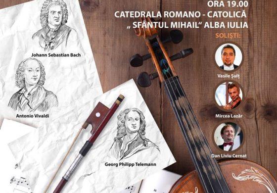 """VINERI: """"Dialogul viorilor"""", la Catedrala Romano-catolică din Alba Iulia. Orchestra de Cameră """"Augustin Bena"""" susține un concert extraordinar"""