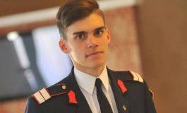 """FOTO: Alexandru-Flavius Toargă, şeful promoţiei 2017 a Colegiului Naţional Militar ,,Mihai Viteazul"""" din Alba Iulia"""