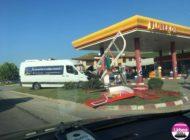 FOTO: Accident rutier la Sântimbru. Şase persoane au fost rănite după ce un autoturism nu a dat prioritate unui microbuz