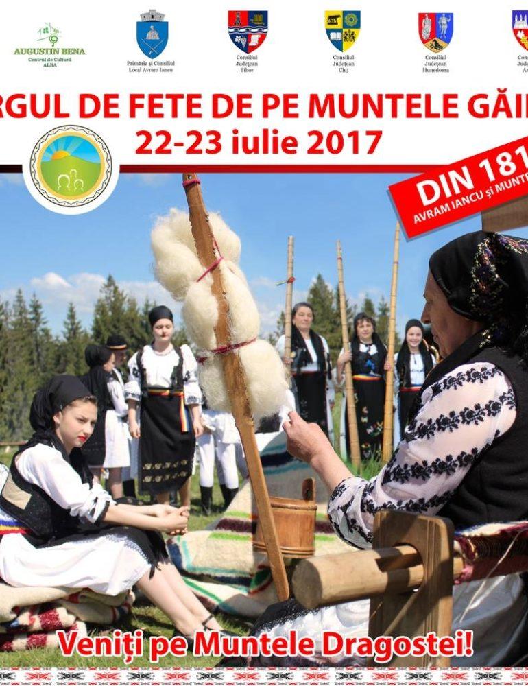 22-23 iulie: Târgul de Fete de pe Muntele Găina. Programul pentru cea mai populară sărbătoare din Ţara Moţilor