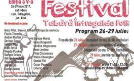 26-29 iulie: Festivalul Întregalde Folk, în satul Ivăniş. Programul ediţiei cu numărul cinci şi premii