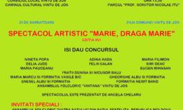 """Marţi: Festivalul de folclor """"Mărie, Dragă Mărie"""", la Vinţu de Jos. Parada portului popular şi invitaţi speciali"""