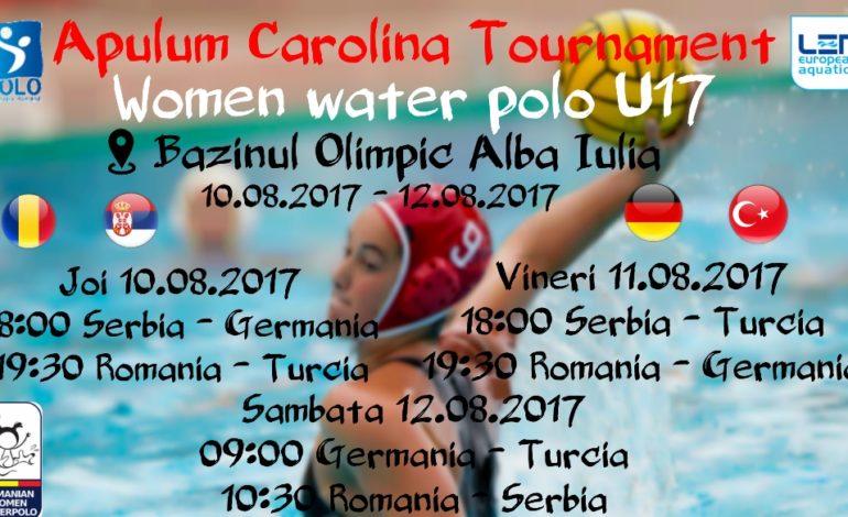 """10-12 august: """"Apulum Carolina Tournament"""". Turneul internaţional de polo feminin U17 se va desfășura la Alba Iulia"""